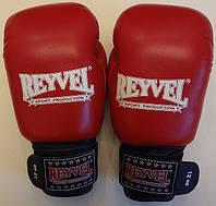 Рукавиці боксерські REYVEL, ФБУ 12oz, червоні, фото 1