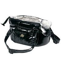 Karlie-Flamingo (КАРЛИ-ФЛАМИНГО) LOLA утепленная сумка переноска для собак и кошек, черная, регулируемые ручки , 25х16х15 см.