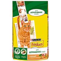 Friskies Indoor сухой корм  для домашних кошек , курица и садовая зелень, 10 кг