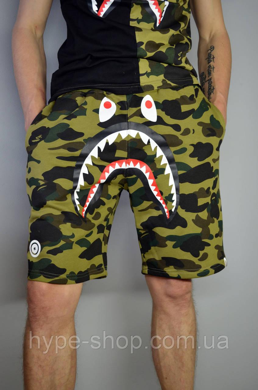 Чоловічі Шорти в стилі Bape Shark Camo