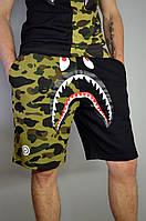 Мужские Шорты в стиле Bape Shark Full Zip