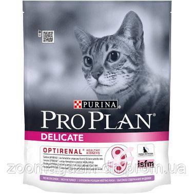 Purina Pro Plan Delicate Turkey Сухой корм для взрослых кошек  со вкусом индейки 400 г