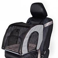 K&H Travel Safety сумка-переноска в автомобиль для собак и котов , серый , S, 43x41x38 см