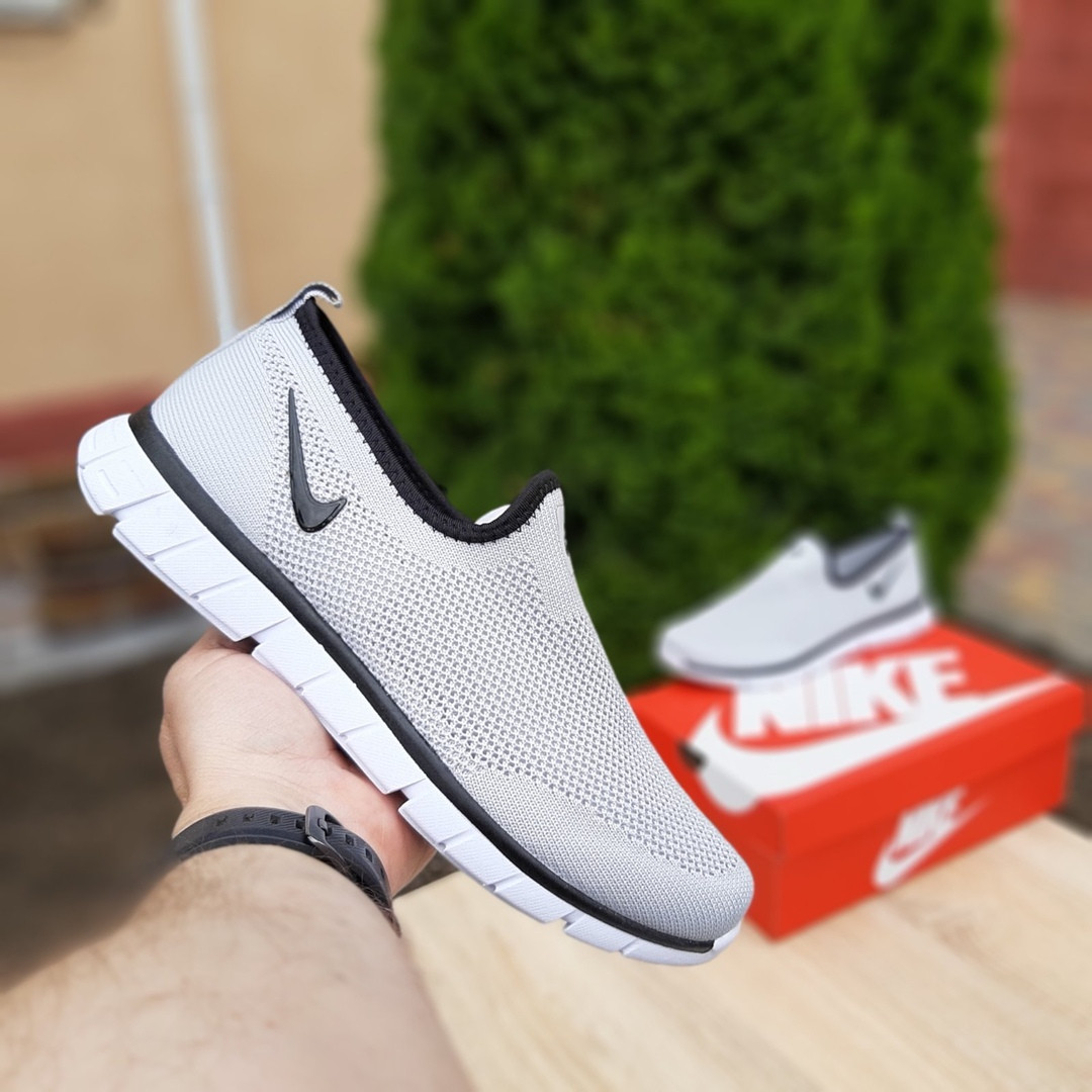 Мужские летние кроссовки Nike (серые) 10153
