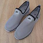 Мужские летние кроссовки Nike (серые) 10153, фото 8