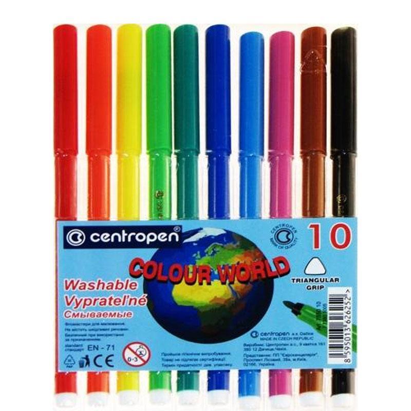 """Фломастеры """"Centropen"""" 10 цветов №7550/10 Color World"""