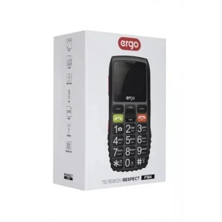 Мобильный телефон бабушкофон Ergo F184 Respect Dual Sim Black