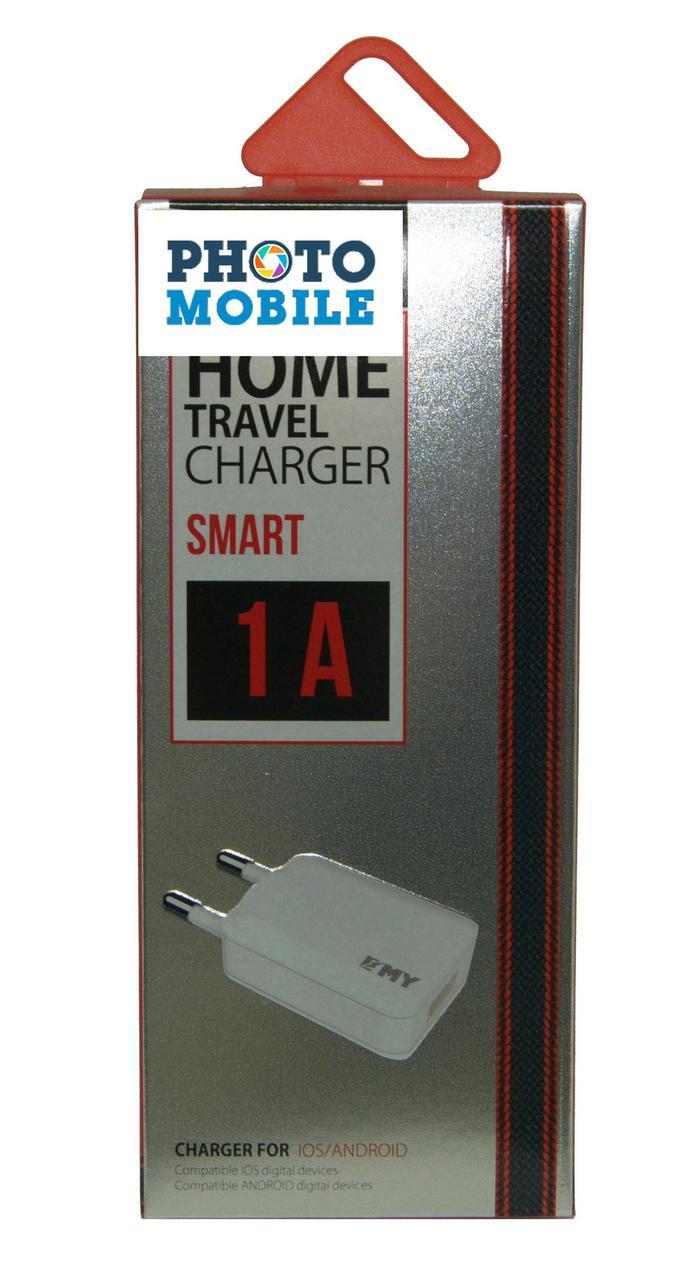 Сетевое зарядное устройство MY 223  1USB (белый)