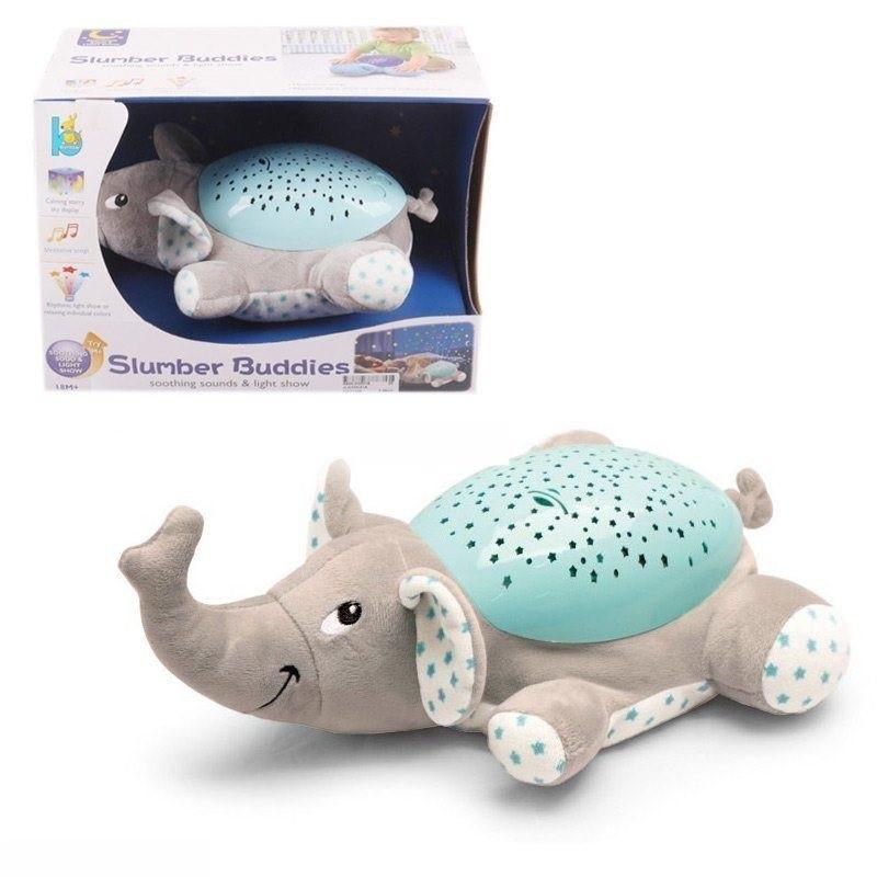 Детский ночник-проектор Слон,свет,звук