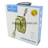 USB кабель Hoco U52 Bright MicroUSB gold, фото 2