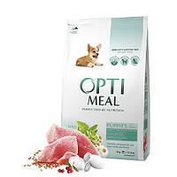 OptiMeal (Оптимил) сухой корм для щенков всех пород с индейкой 4 кг