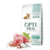 OptiMeal (Оптимил) сухой корм для щенков всех пород с индейкой 12 кг