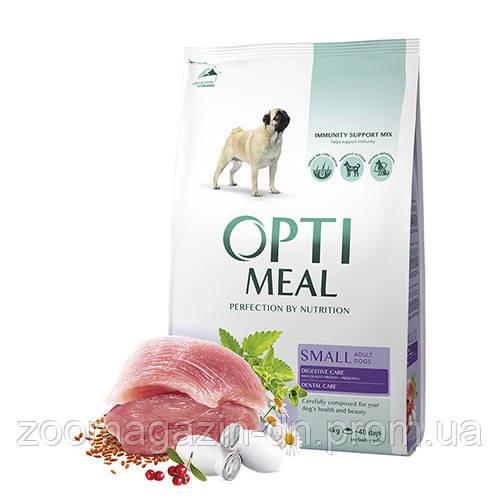 OptiMeal (Оптимил) сухой корм для собак малых пород с уткой 4 кг