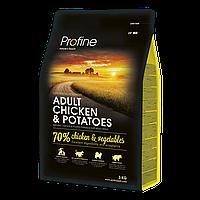 Profine (Профайн) Adult Chicken & Potatoes - сухой корм для взрослых собак с курицей и картофелем 3кг