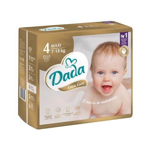Підгузки Dada Extra Care 4 (7-18кг), 33шт