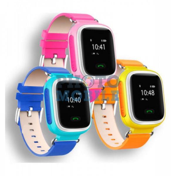 Смарт часы детские с трекером Q60 (розовый, синий, оранжевый)