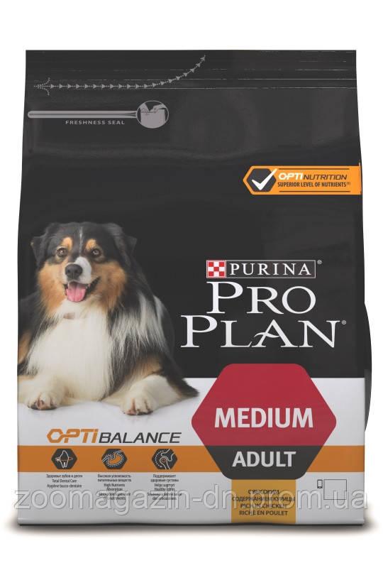 PRO PLAN  OPTIBALANCE  для взрослых собак средних пород 3 кг