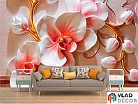 Фотообои 3D орхидеи по Вашим размерам