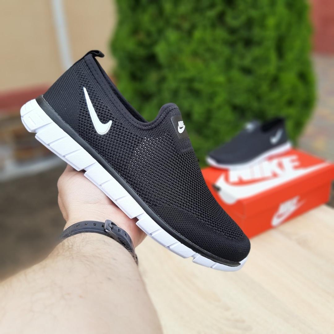 Чоловічі літні кросівки Nike (чорно-білі) 10154