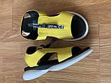 Босоніжки жіночі шкіряні жовті, фото 6