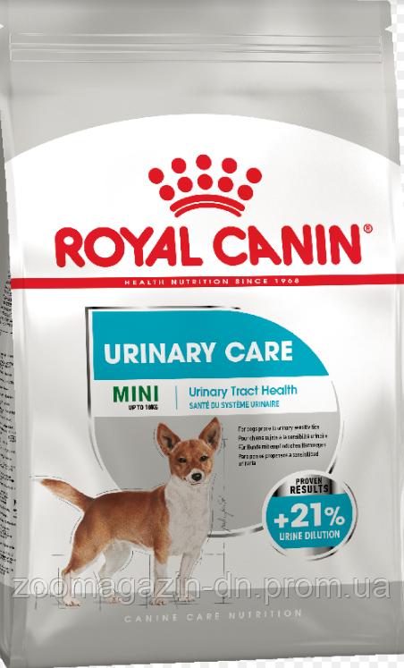Royal Canin MINI URINARY CARE сухой корм для собак мелких пород с чувствительной мочевыделительной системой, 3 кг