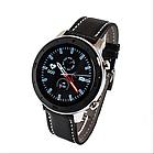 Розумні смарт годинник NO.1 DT78 Leather Band Silver-Black, фото 2