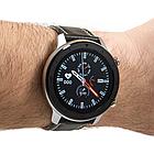 Розумні смарт годинник NO.1 DT78 Leather Band Silver-Black, фото 4