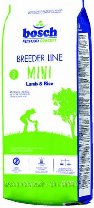 Bosch (Бош) BREEDER LINE MINI LAMB & RICE (БРИДЕР МИНИ ЯГНЕНОК И РИС) для взрослых собак мелких пород с