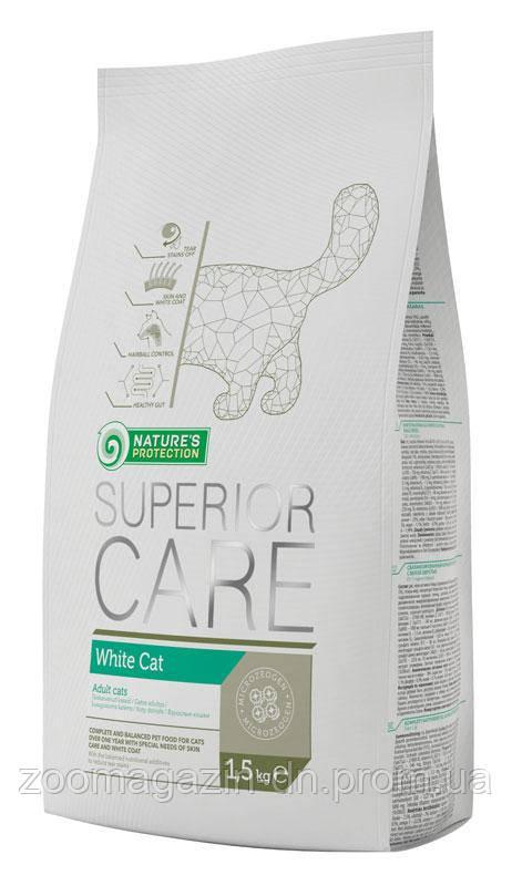 Корм Nature's Protection Superior Care White Cat - для котов c белой шерстью, 15 kг