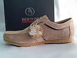 Літні пісочний кеди,сліпони на шнурках Bertoni, фото 3