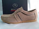 Літні пісочний кеди,сліпони на шнурках Bertoni, фото 2