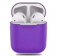 Силиконовый чехол для наушников Apple Airpods Фиолетовый