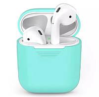 Силиконовый чехол для наушников Apple Airpods Синий
