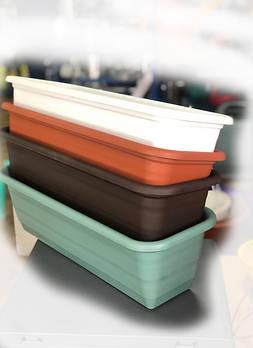 Балконные ящики пластиковые (кашпо)