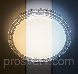 Светильник припотолочный светодиодный на пульте Luminaria R-405-CLEAR/SHINY SOTA 40W