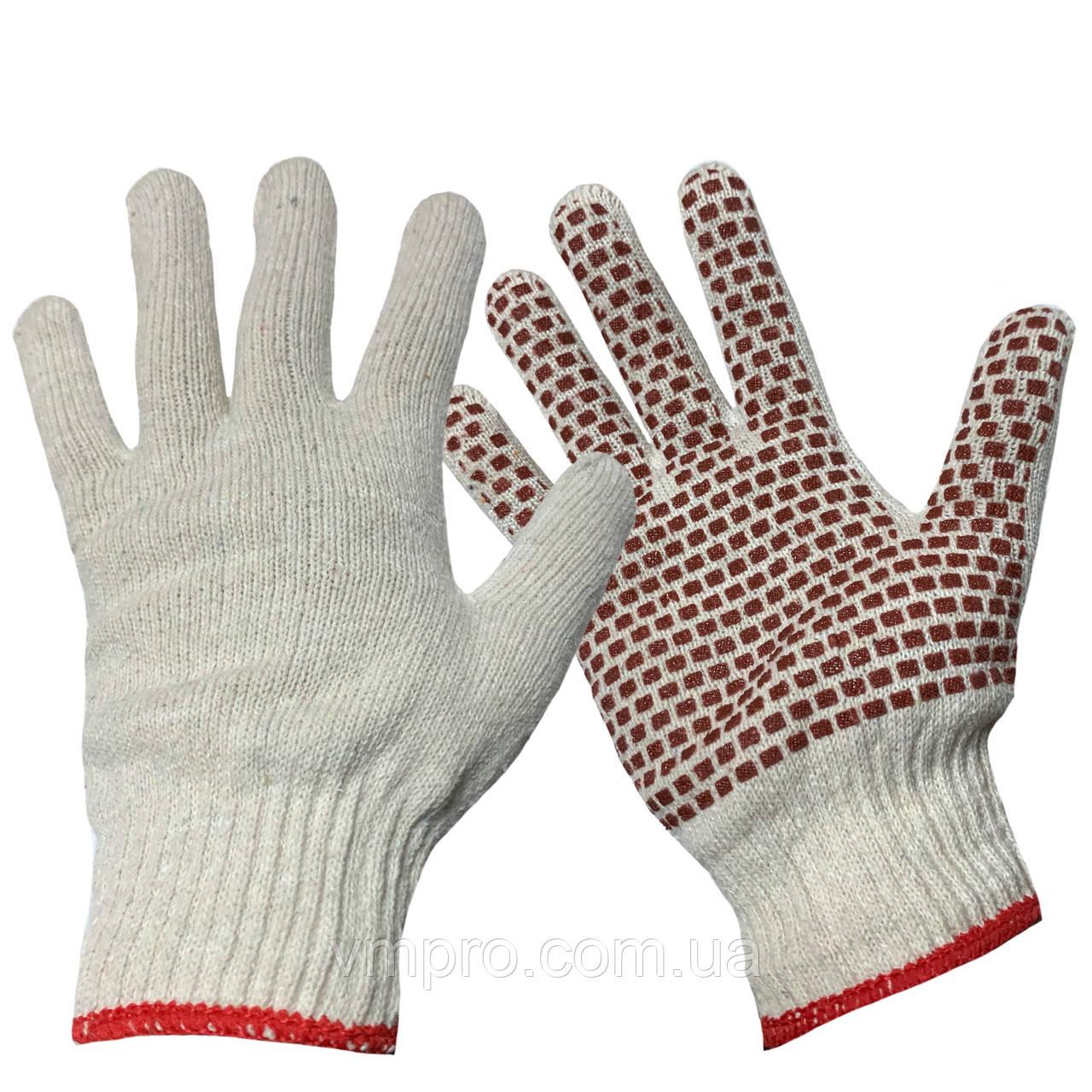 Рукавички робочі бавовна (щільні) ,господарські рукавички