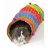 """PETSTAGES Игрушка для кошек """"Кошачий тоннель"""" 27х52 см, фото 2"""
