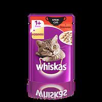 Влажный корм для котов Whiskas крем-суп с говядиной 85 г