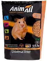 AnimAll Древесный наполнитель для кошачьего туалета, 1,5кг