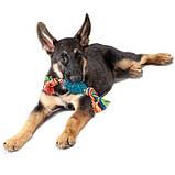 """PETSTAGES Игрушка для собак """"Орка Шишка с канатом"""" 10 см, фото 2"""