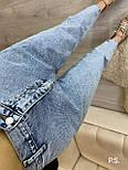 Женские джинсы МОМ из 100% коттона с резинкой на поясе 7612470, фото 3