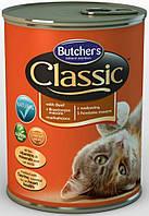 Butchers (Бутчерс) ClASSIC BEEF (ГОВЯДИНА) консерва для кошек, 400 г