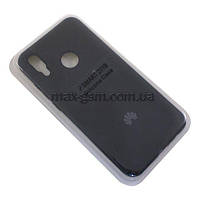 Накладка Silicone Case Full Huawei P Smart 2019 black
