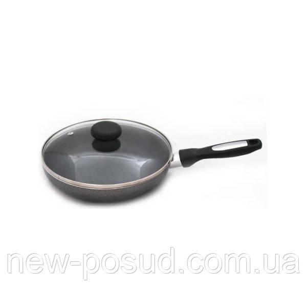 Сковорода алюминиевая 22 см с антипригарным покрытием и стеклянной крышкой Krauff 25-27-028