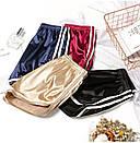 Женские атласные шорты с высокой талией, фото 5