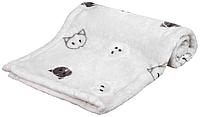 """Подстилка""""Mimi"""" TRIXIE (плюш)70 × 50 cм, светло-серый с кошками"""