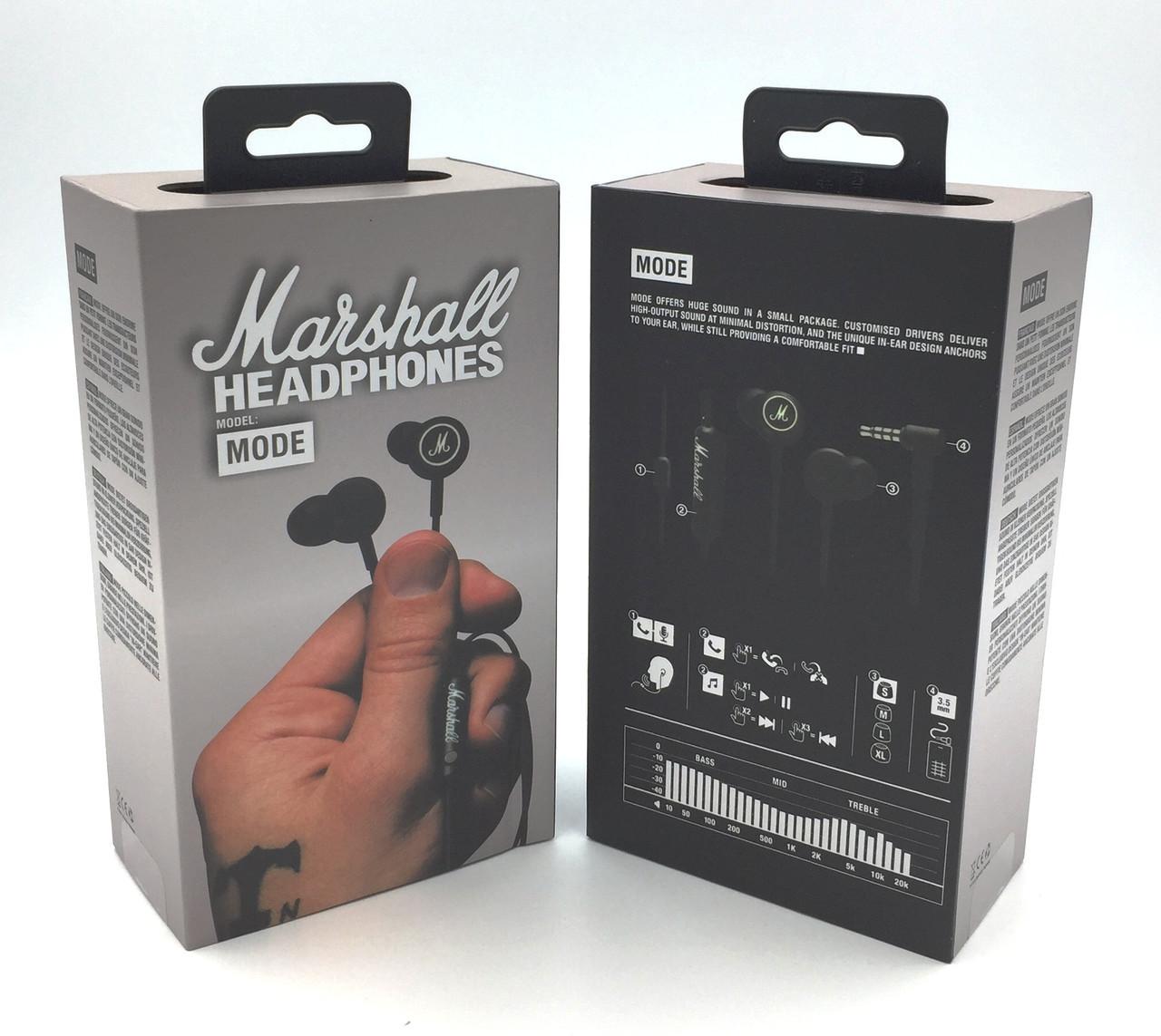 Вакуумные наушники MARSHALL MODE Black