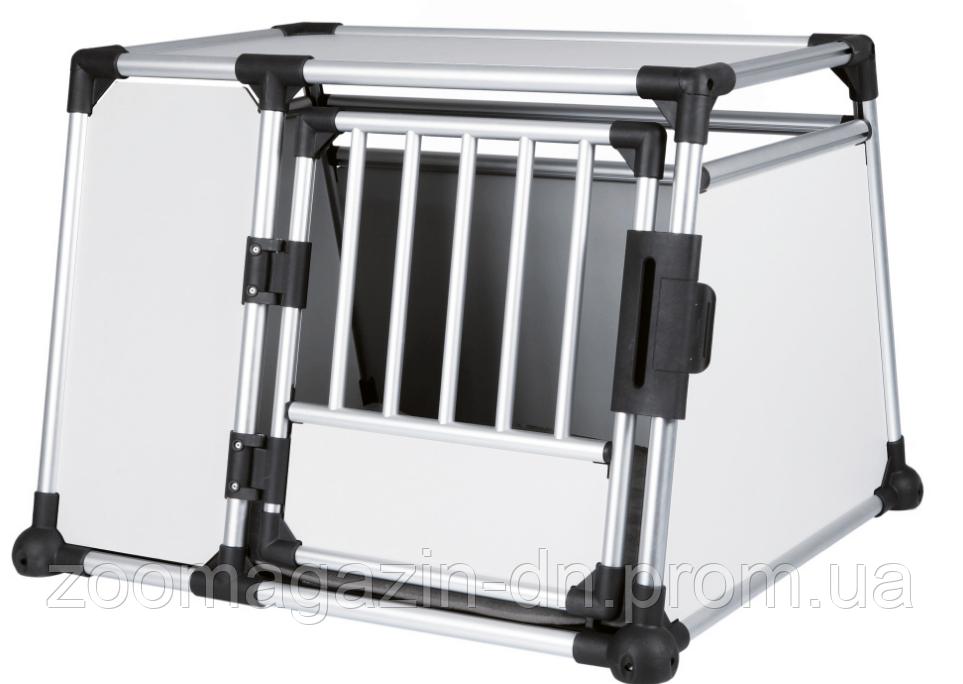 TRIXIE  транспортировочный бокс(алюминий) L-XL: 94×75×88 cм,серебро/светло-серый