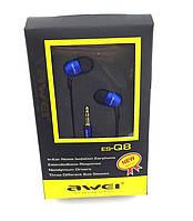 Наушники AWEI ES-Q8 Blue