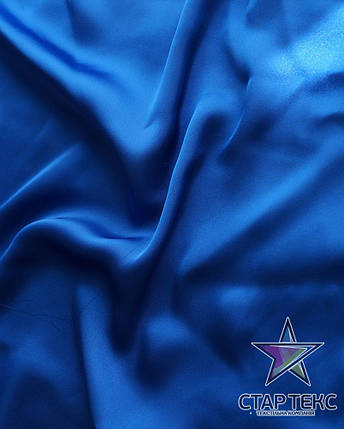 Шифон шовк Армані Єлектрік-Синій, фото 2